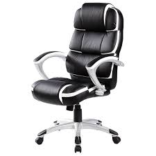 <b>Desk Chairs Black</b> with White Accents Oypla <b>Luxury</b> Designer ...