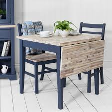 Florence Square Extended Tablenavy Blue Kitchen Table With Drop Down Leaf