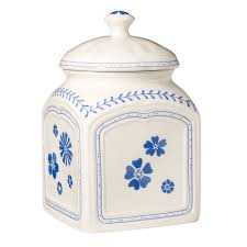 details about villeroy boch farmhouse touch blue medium canister