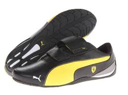 puma shoes ferrari yellow. new men\u0027s puma ferrari drift cat 5 sf black yellow casual sport sneakers shoes shoe,