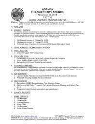 Philomath City Council Meeting Agenda Nov 12 2019