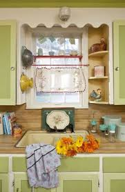 vintage kitchen window treatments. Simple Treatments Soft Key Lime Paint Rippled White Trim Vintage Cloth At The Window U0026 Other With Vintage Kitchen Window Treatments T