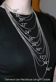Chain Size Chart Inch Necklace Lengths Good To Know If Ordering Jewelry And Cant