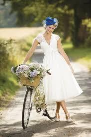 eva tea calf 1950s vintage short wedding dress by brighton belle