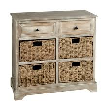 Antique Storage Cabinets Hannah Antique 2 Drawer 4 Basket Storage Cabinet Christmas Tree