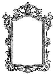 vintage hand mirror clipart. antique mirror frame clipart vintage hand c