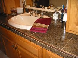 tile bathroom countertop ideas. Ideal Tile Bathroom Countertop Ideas For Home Decoration With S