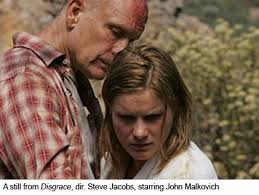 south africa s disgrace in words and images the literate lens so it seemed somehow reductive to me when i watched the film adaptation of disgrace the film was stark well acted difficult to watch i can t imagine it