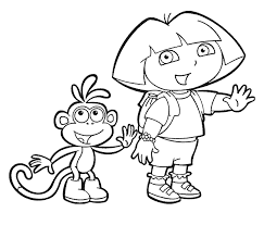Summer, spring, fall and winter kids love coloring pages that feature their favorite television characters with the popular tv show dora the explorer being one of the most sought after. Printable Dora Coloring Pages Printable Kids Colouring Pages Coloring Home