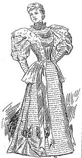 pioneer woman clothing drawing. afternoon dress circa 1894 pioneer woman clothing drawing