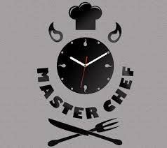 Small Picture Wall Clock Kitchen Clock MASTERCHEF modern clock gift wall