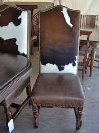 cowhide dining room chairs
