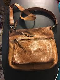 vintage fossil embossed leather purse