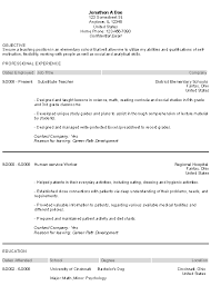 Example Director Of Education Resume Free Sample - Resume Templates.  EducationResumeExample.PNG