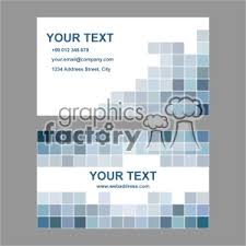 Vector Business Card Template Set 022 Clipart Royalty Free Clipart