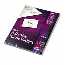 Avery 5395 Name Badges Avery 5395 Self Adhesive Name Badge Labels Plain Style 2 1 3 X 3