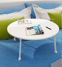 ghm home dining table laptop desk small desk size diameter 60cm height 28cm roundtable multi colour optional color white