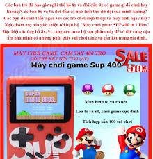 Máy Game Cầm Tay Sup Mini Thê Hê 4.0 với 400 Trò Chơi như Con Tra Mario...vv  kết nối với TV qua cổng AV (rẻ còn friship)