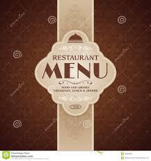 Restaurant Cafe Menu Brochure Template Stock Vector
