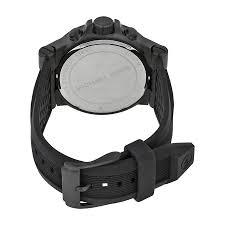 michael kors black silicone strap mens watch mk8152 691464569068 691464569068 watch shape