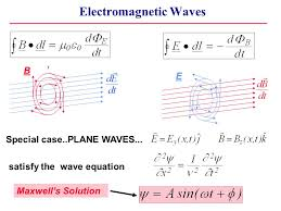 plane waves satisfy the wave equation maxwell s solution electromagnetic waves