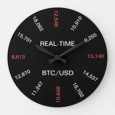 Bitcoins are traded on many exchange platforms, which work like the stock market where you can buy (and offer a bid price), or sell (at an ask price). Real Time Bitcoin Price Clock Zazzle Com