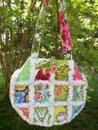 RAG PURSE Diaper Bag Quilted Tote ladybug red by avisiontoremember ... & handmade-rag quilt purse-Debbi Haas Adamdwight.com