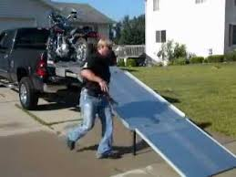 Loadall motorcycle ramp don't lose the bed of your truck! - YouTube
