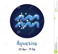 водолей знака зодиака в космическом космосе звезд с значком