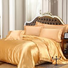 whole silk satin bedding sets luxury russia size usa size gold red silver duvet cover
