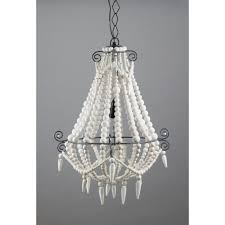 emac lawton beaded chandelier small white