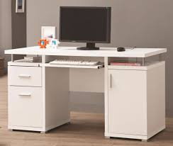 home office desk white. White Double Pedestal Computer Desk Home Office Desk White N