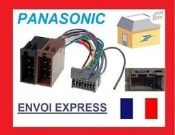 panasonic 16 pin iso wiring harness connector adaptor lead loom image is loading panasonic 16 pin iso wiring harness connector adaptor