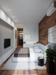 Modern Rustic Bedroom Applying A Rustic Studio Apartment Design Which Decor By Wooden