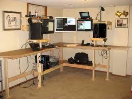 diy standing desk workstation
