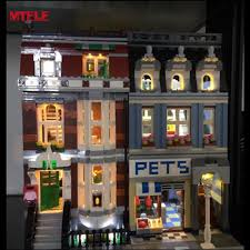lego lighting. MTELE Brand LED Light Up Kit For Pet Shop Supermarket Lighting Set Compatile With Lego 10218 Kids Christmas Gift-in Blocks From Toys \u0026 Hobbies On