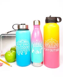 Cricut Name Designs Custom Water Bottles With Cricut Happiness Is Homemade