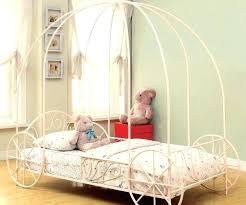 Full Size Princess Canopy Bed Frame Platform Twin Girls Kids Bedroom ...