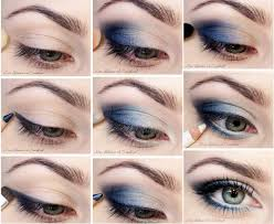 step by step makeup tutorial for blue eyes