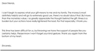 thank you for a gift letter templates