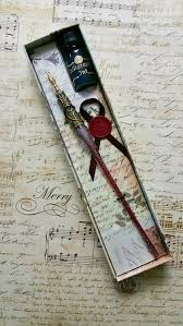 gl pen red gl pen dip pen writing set gl founn pen gift for writer writers gift pen ink set dip pen and ink set by onedaylono on