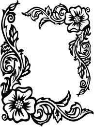 Flower Border Rose Coloring Pages For Compass Picture Vibobchco