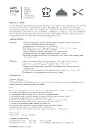 Examples Of Chef Resumes