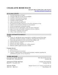 Welder Resume Unique CHARLAINE ROBICHAUD Welding Resume