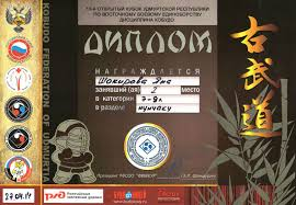 Достижения наших учащихся всероссийский диплом 1 место Шакирова рукопашный бой