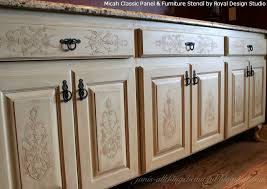 stenciling furniture ideas. how to emboss furniture diy crafts kitchen cabinets painted after stencil embossed buffet stenciling ideas