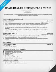 best ideas of sample resume home health aide with format sample - Home Aide  Resume