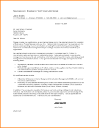 Sample Cover Letter For Project Manager Job Best Technical