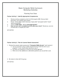 Basic Skills For Resume Basic computer skills resume applicable capture listing on the 18