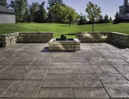 stamped concrete patio ideas at a bed and breakfast